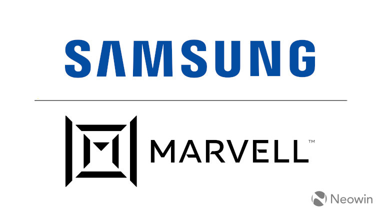 The Samsung and Marvell logos