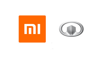 The Xiaomi and Great Wall Motors logos on a white background