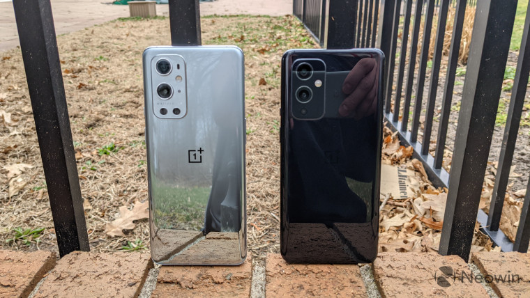 Close-up image of the OnePlus 9 and OnePlus 9 Pro