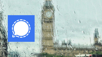 The Signal logo with Big Ben in the background