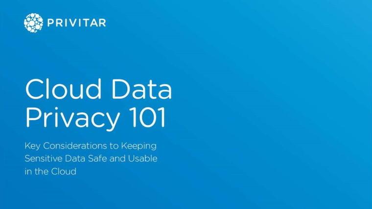 Cloud Data Privacy 101 ebook