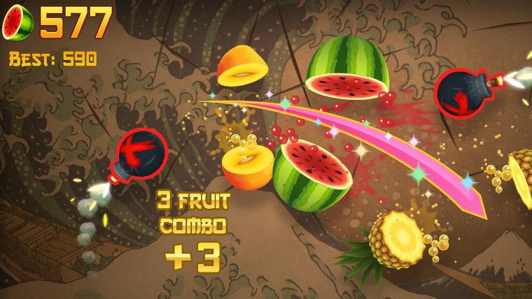A screenshot of Fruit Ninja Classic