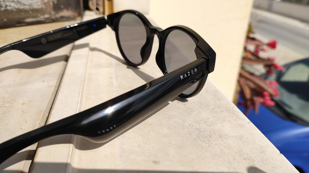 Side view of the Razer Anzu Smart Glasses