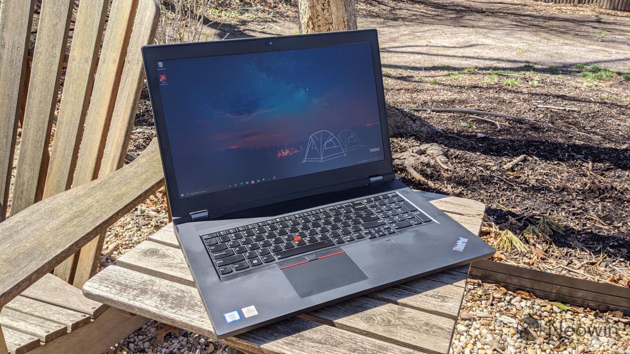 Angled view of Lenovo ThinkPad P17