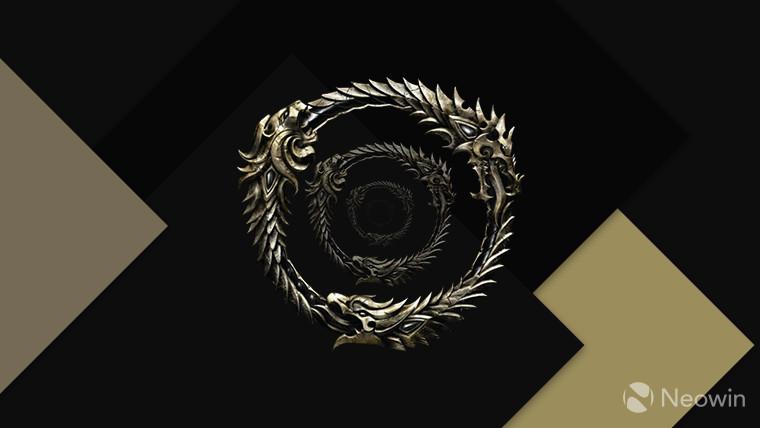 Elder Scrolls Online logo full color on dark background