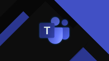 Microsoft Teams logo full color on dark background