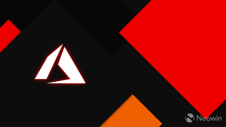Azure logo monochrome on a dark background