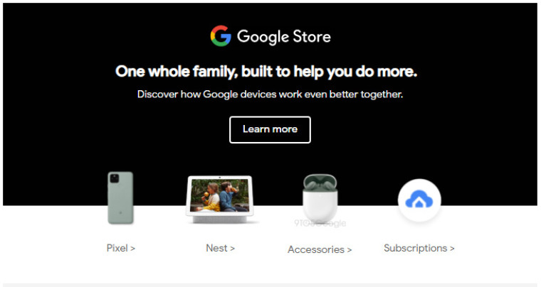 Google Pixel family with Pixel Buds A