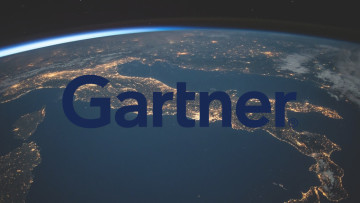 The Gartner logo in front of the Earth