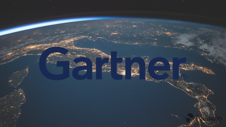 The Gartner logo in front of the Earth