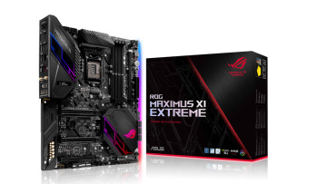 ASUS ROG MAXIMUS XI EXTREME Z390 motherboard and package