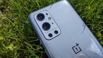 Close-up of the OnePlus 9 Pro camera