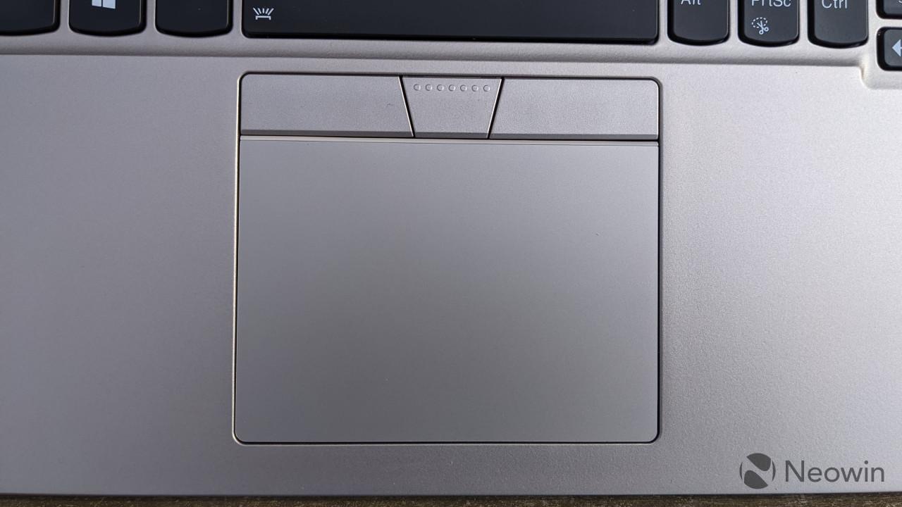 Close-up of ThinkPad X1 Titanium touchpad