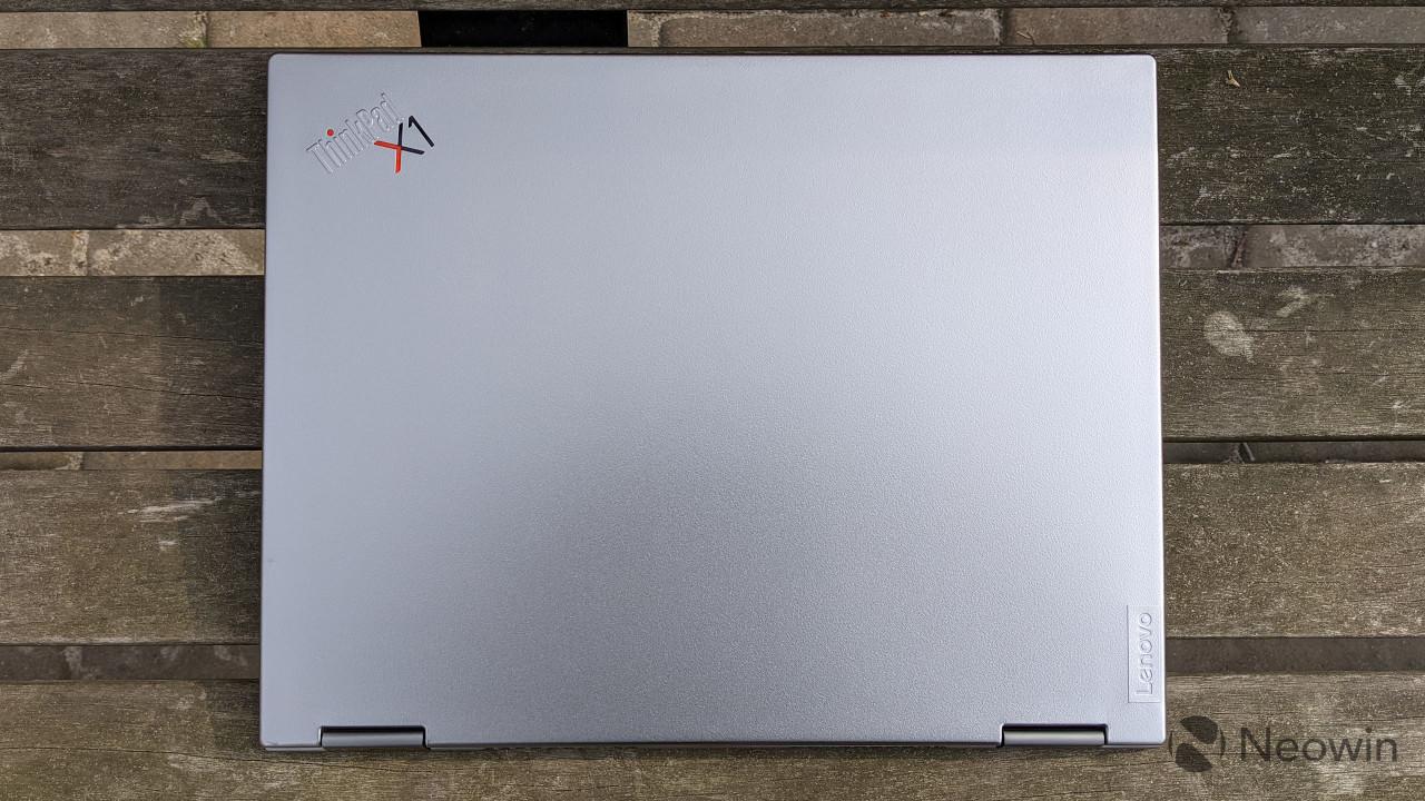 Top-down view of the ThinkPad X1 Titanium Yoga