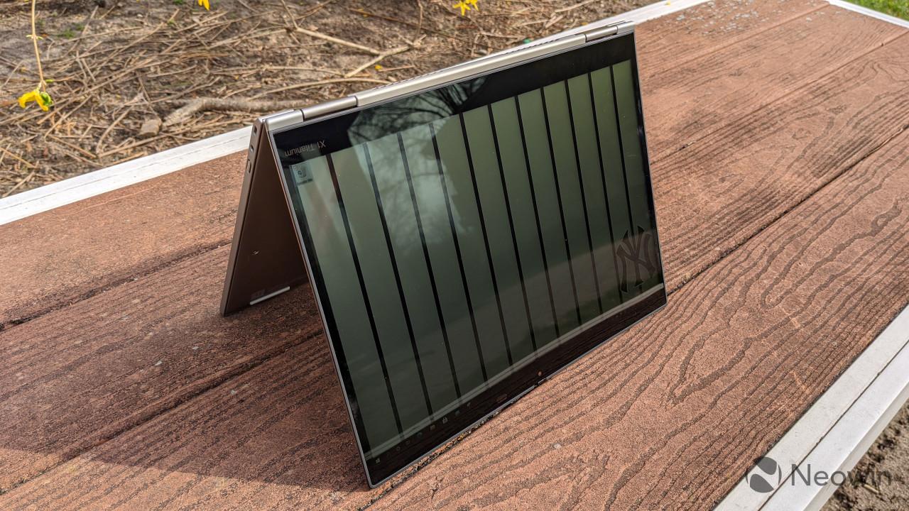 ThinkPad X1 Titanium in tent mode