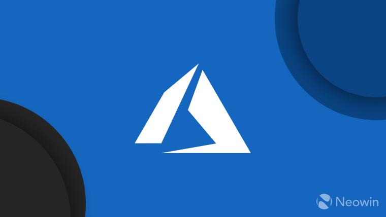 Microsoft Azure logo white monochrome on blue background