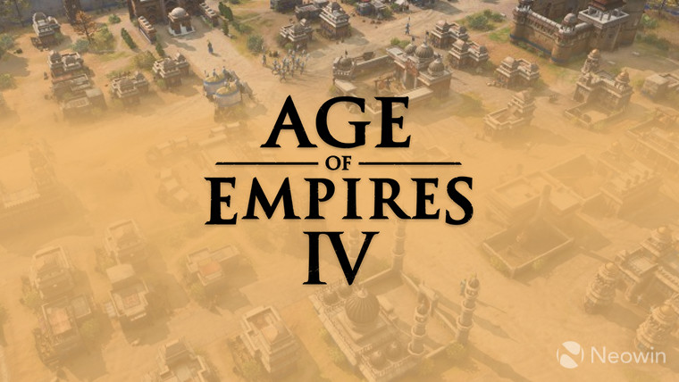 Age of Empires IV logo dark grey on screenshot
