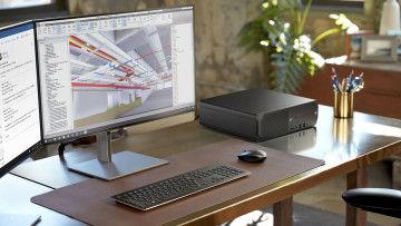 HP Z2 SFF with dual monitors mouse and keyboard