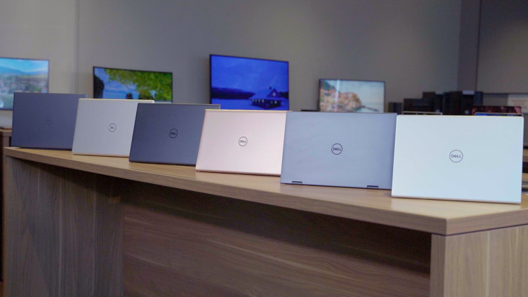 Group photo of Dell&039s new Inspiron laptops