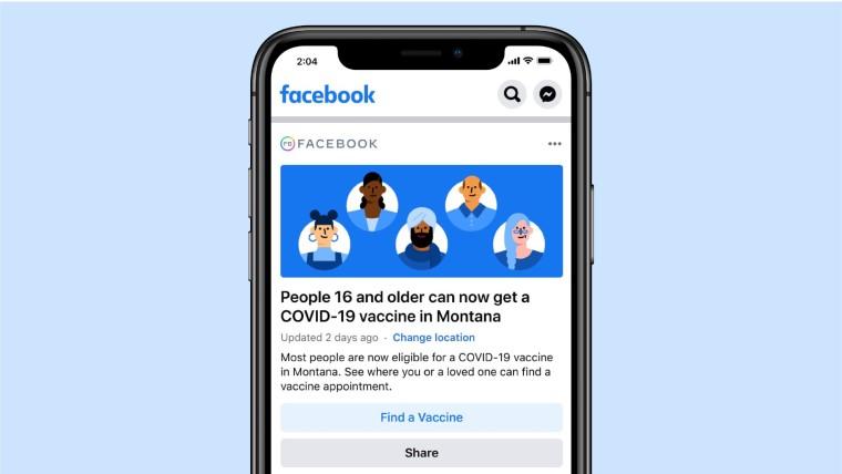 Facebook vaccine rollout