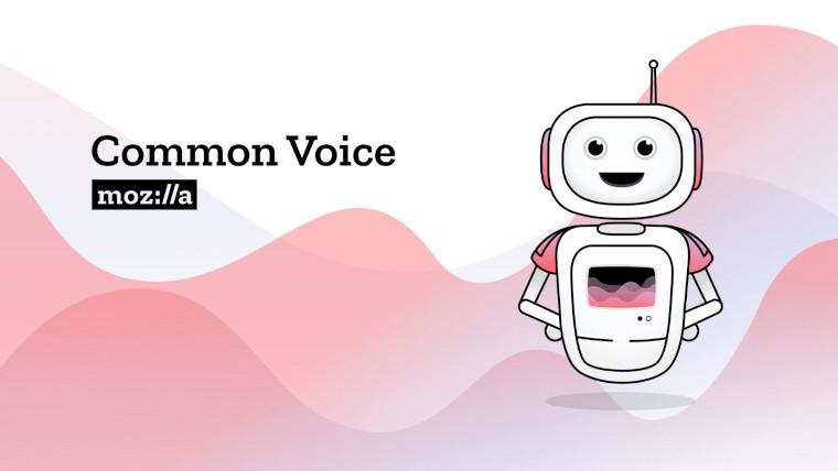 The Mozilla Common Voice logo and mascot
