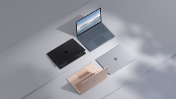 Surface Laptop 4 press images showing various colors