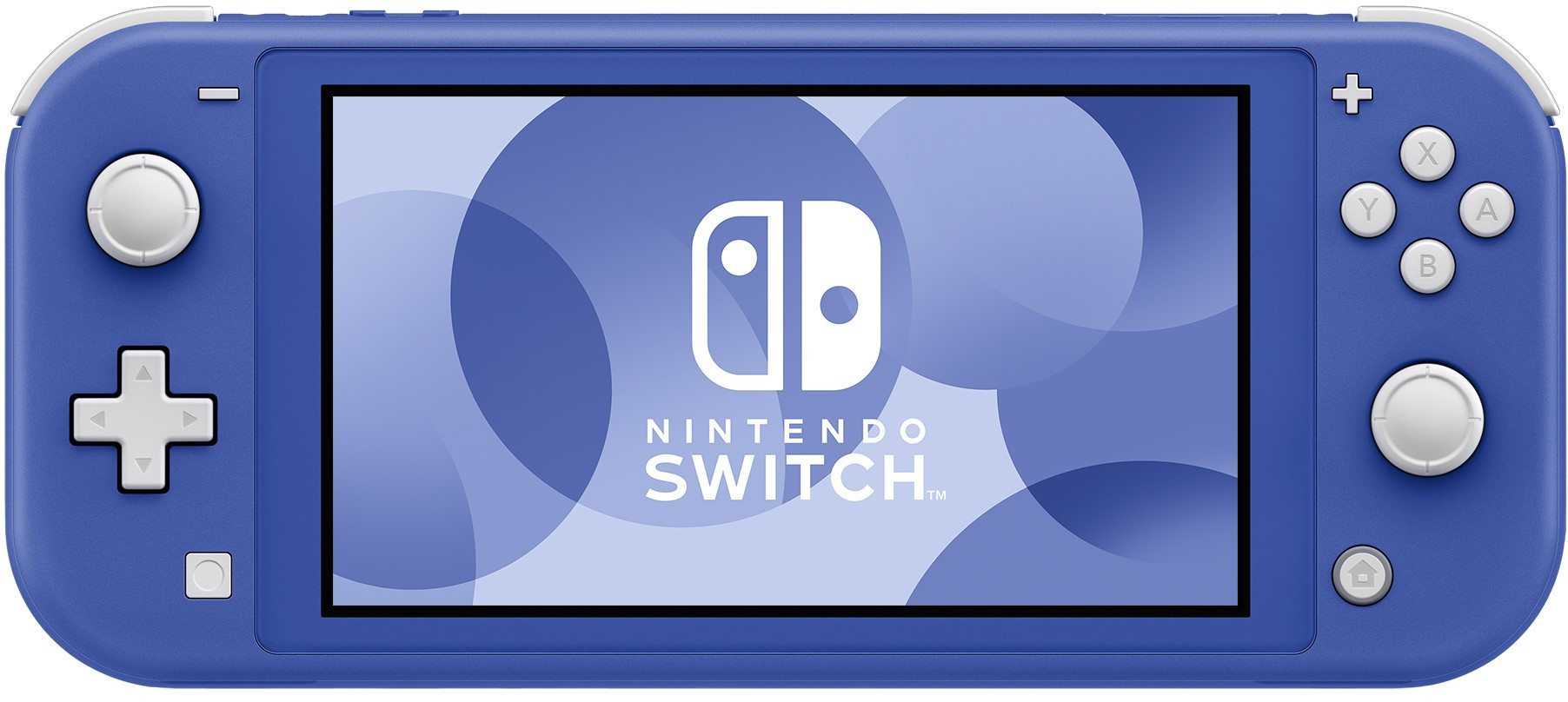 Front view of the blue model of the Nintendo Switch Lite