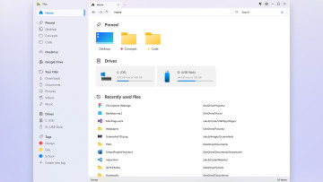 A user concept design of File Explorer in Windows 10