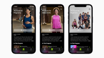 Screenshot of new Apple Fitness workouts