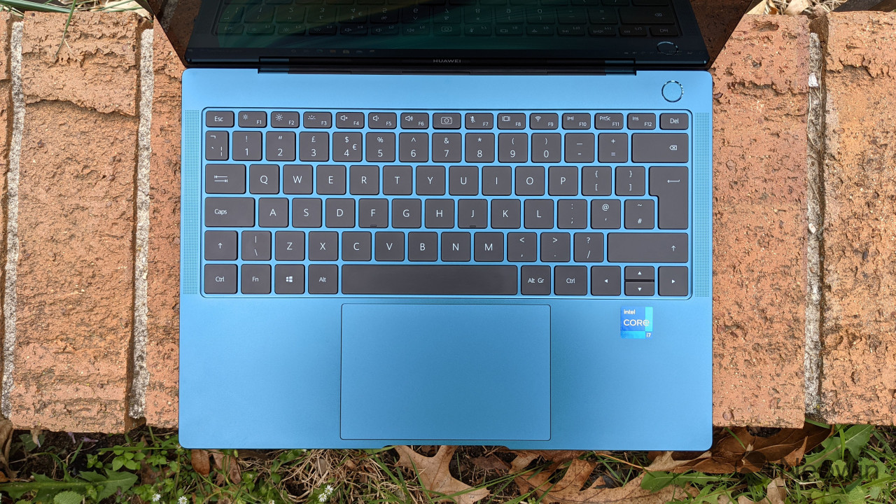 Top-down view of MateBook X Pro keyboard