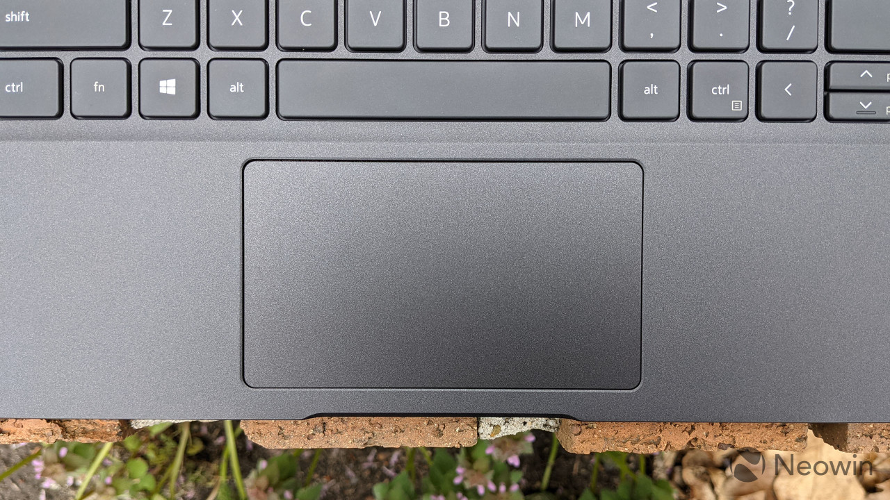 Close-up of Latitude 7320 touchpad