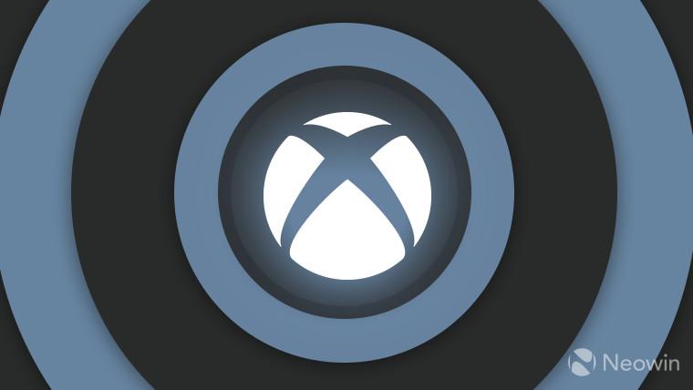 Xbox logo monochrome on dark grey background