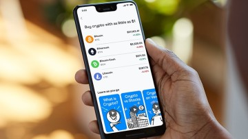 A smartphone displaying cryptocurrency management in the Venmo app