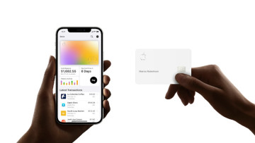 The Wallet app on iOS and an Apple Card