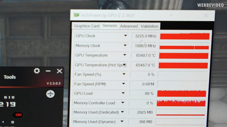 Liquid Devil Ultimate overclocking record GPUz screenshot