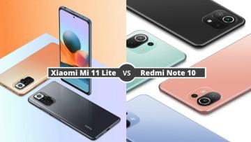Xiaomi Mi 11 Lite vs Redmi Note 10