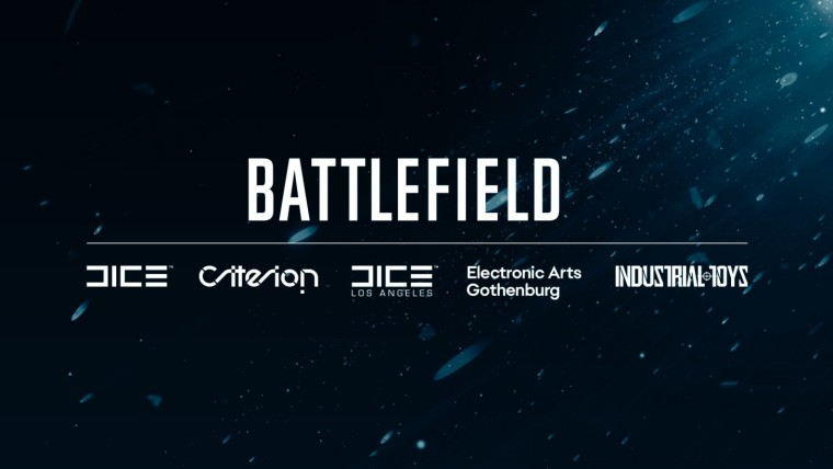 Battlefield logo with its developers under it