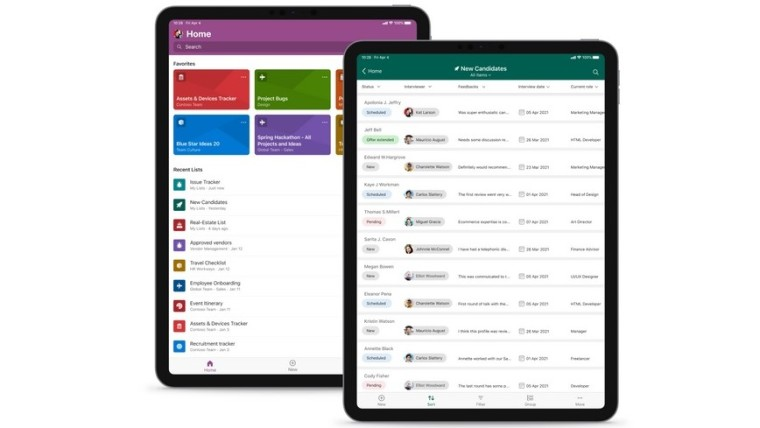 Microsoft Lists for iPad