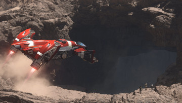 Star Citizen cave entrance