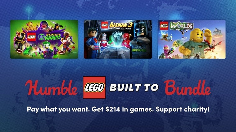 Three games of the Humble Lego Bundle