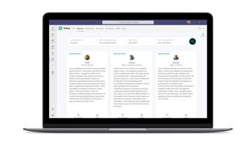 Screenshot of Microsoft&039s community mentors application in Teams for desktop
