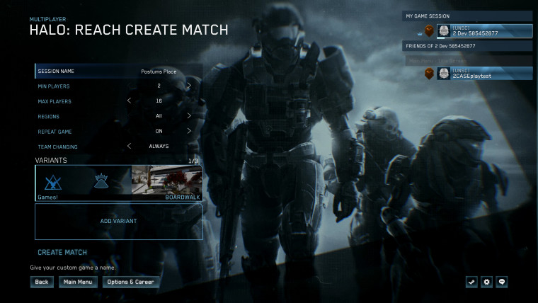 Halo MCC custom game browser