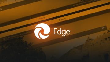 Microsoft Edge Chromium logo on new tab screenshots