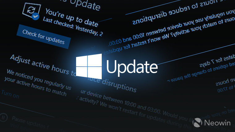 Windows 10 update screen composition