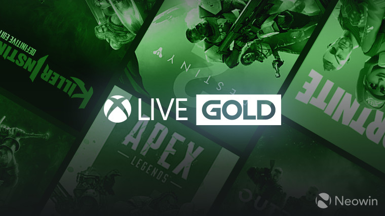 Xbox Live Gold logo unofficial composition on a background of assorted F2P game covers