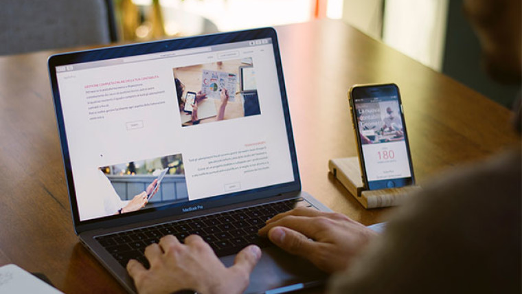 wordpress on a laptop and phone