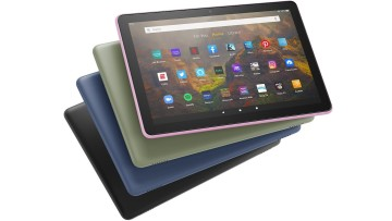 Fire HD 10 tablet in its full range of color options including black denim lavender and olive