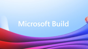 Microsoft Build written against a bright background