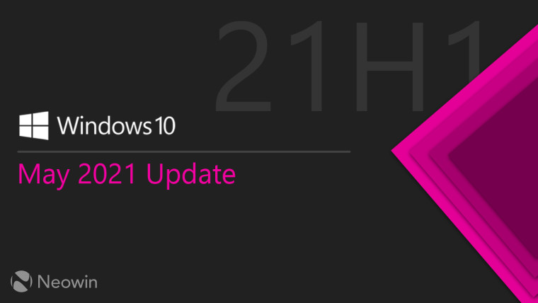 Windows 10 May 2021 Update banner