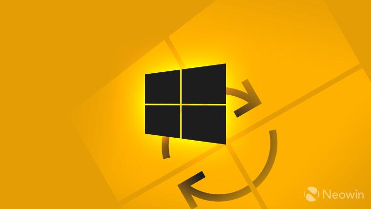 Windows logo dark on orange background